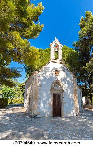 Stock Photography of Old monastery Arkadi in Greece, Chania, Crete.