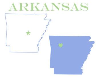 Arkansas outline.