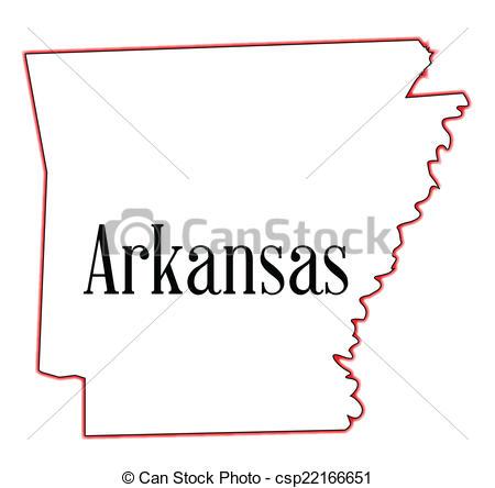 Clipart Vector of Arkansas.