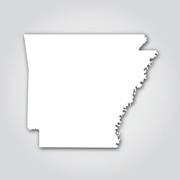 Silhouette Of Arkansas Outline Clip Art, Vector Images.