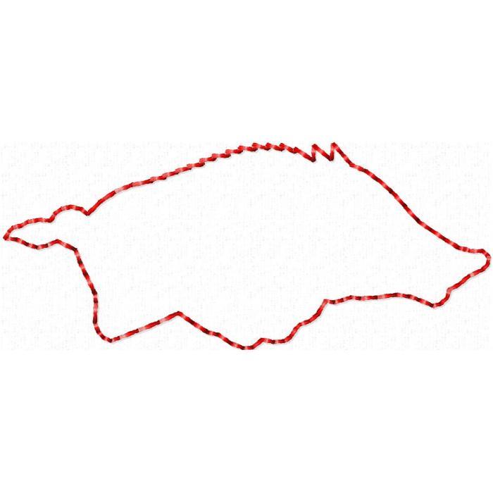 Outline Arkansas Razorback Clipart.