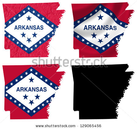 Arkansas Map Stock Images, Royalty.