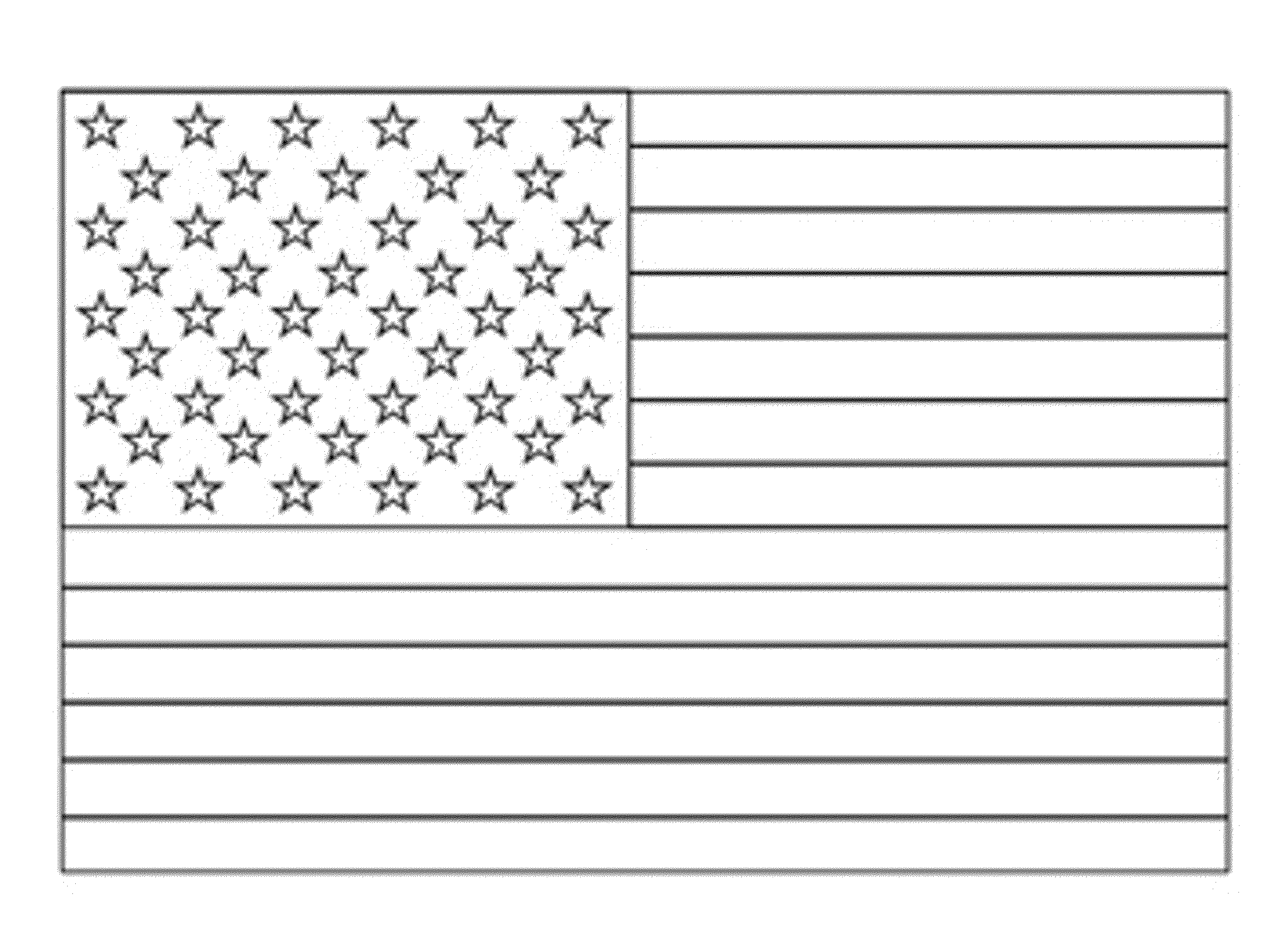 Hawaii State Flag Coloring Page.