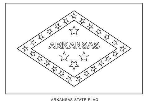 Flag of Arkansas coloring page.