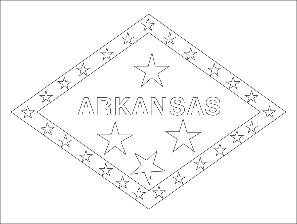 Arkansas State Flag Coloring Page On Flag With 17 Best Images.