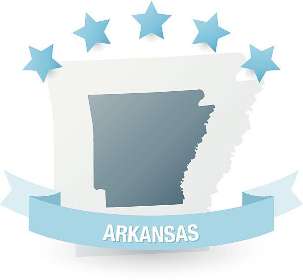 Clip Art Of A Arkansas Outline Clip Art, Vector Images.