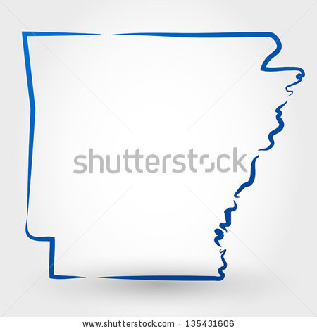 Arkansas Outline Stock Images, Royalty.