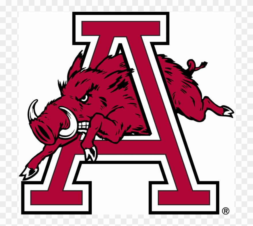 Arkansas Razorbacks Iron Ons Clipart (#2428071).