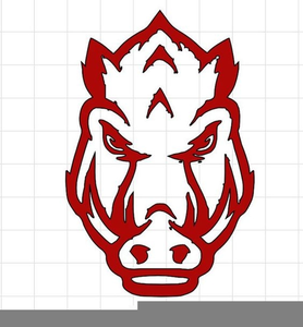 Arkansas Razorback Clipart Logo.