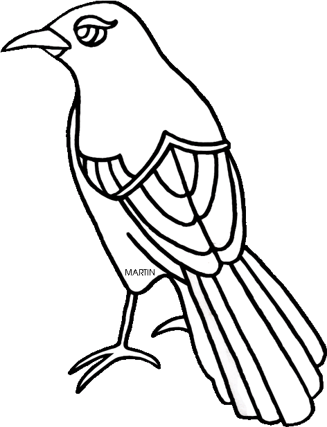 United States Clip Art By Phillip Martin, State Bird.