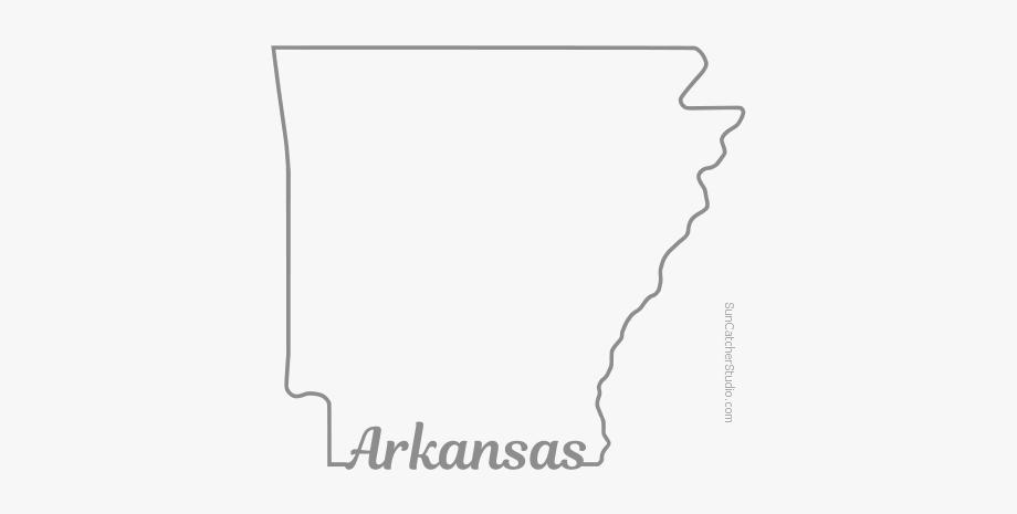 Free Arkansas Outline With State Name On Border, Cricut.