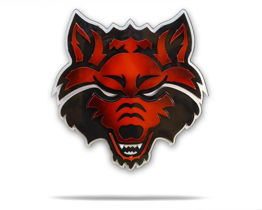 Arkansas State University Red Wolf 3D Metal Artwork.