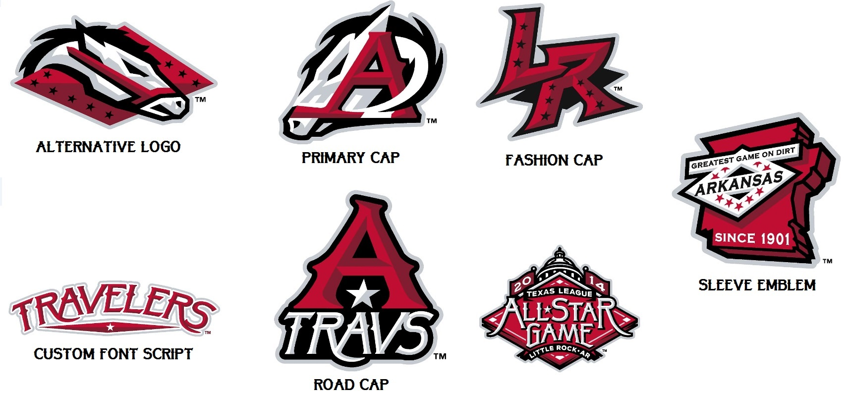 New Logo for Arkansas Travelers by Brandiose.