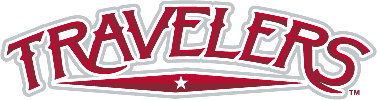 Arkansas Travelers Wordmark Logo.