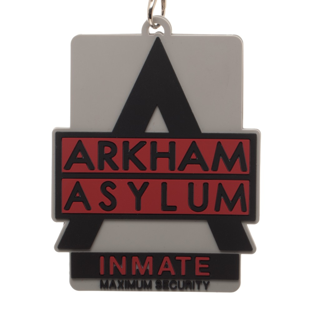 Batman Arkham Asylum Inmate Logo Lanyard with Rubber Logo ID Holder NEW  UNUSED.