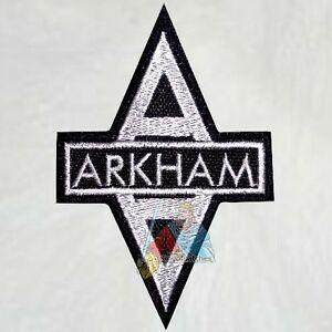 Details about Batman Arkham Asylum Logo Embroidered Patch Comic Videogame  The Joker Riddler.