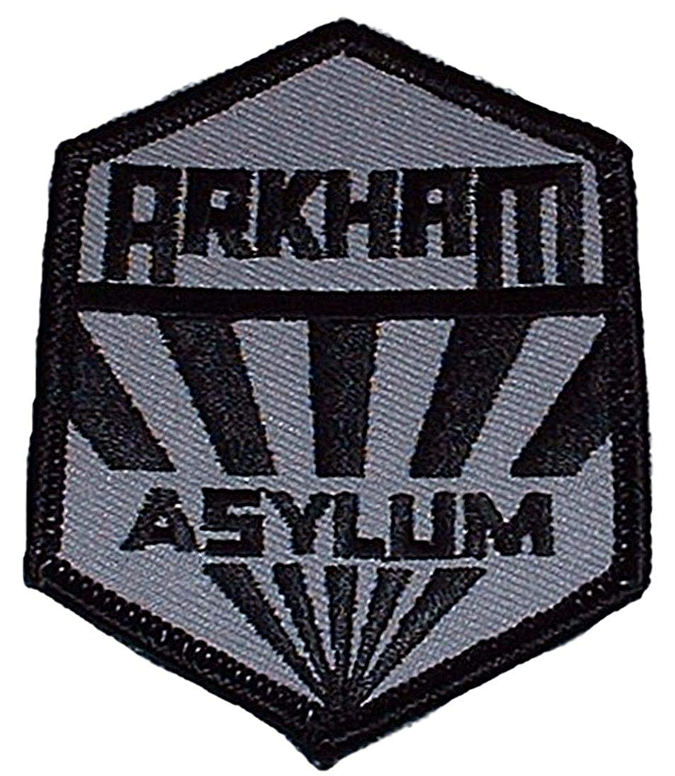 Amazon.com: Batman Arkham Asylum Logo Iron on Patch: Clothing.