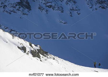 Picture of Austria, Arlberg, Albona, Persons cross.