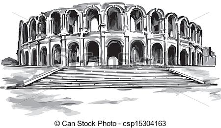 Stock Illustration of Illustration old amphitheatre.