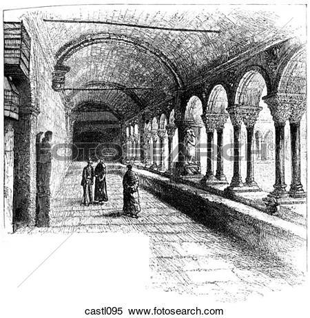 Stock Illustration of Cloitre St. Trophisme, Arles, France.