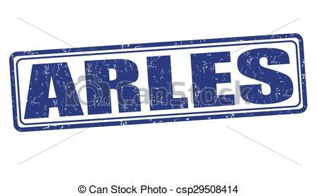 Vector Clip Art of Arles stamp.
