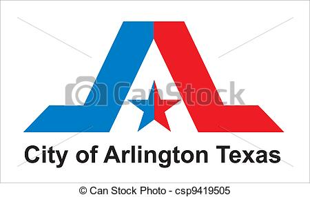 Clipart Vector of Arlington city flag.