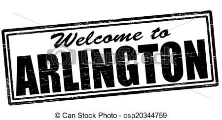 Clipart Vector of Welcome to Arlington.