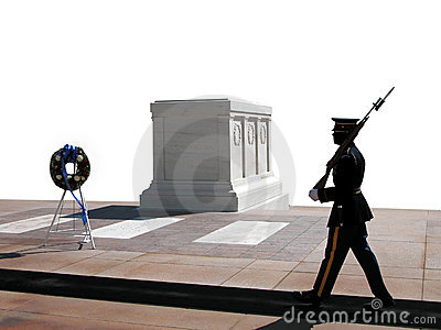 Changing Of The Guard, Arlington National Cemetery Stock.