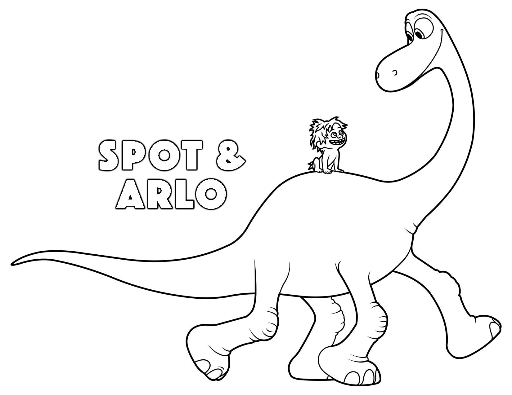 Arlo Dinosaur Coloring Pages.