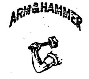 Nailing the arm and hammer trademark.