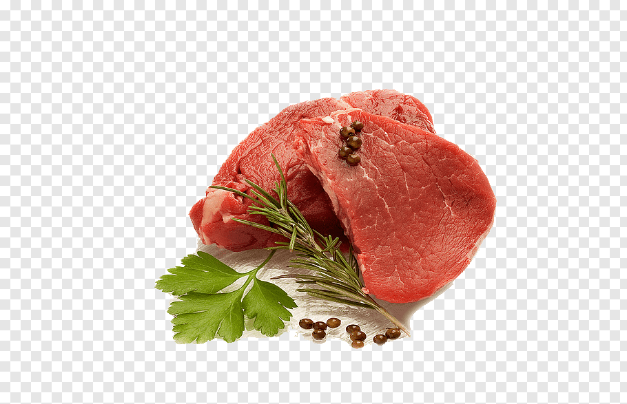 Raw meat in surface near parsley, Raw meat Raw foodism Meat.
