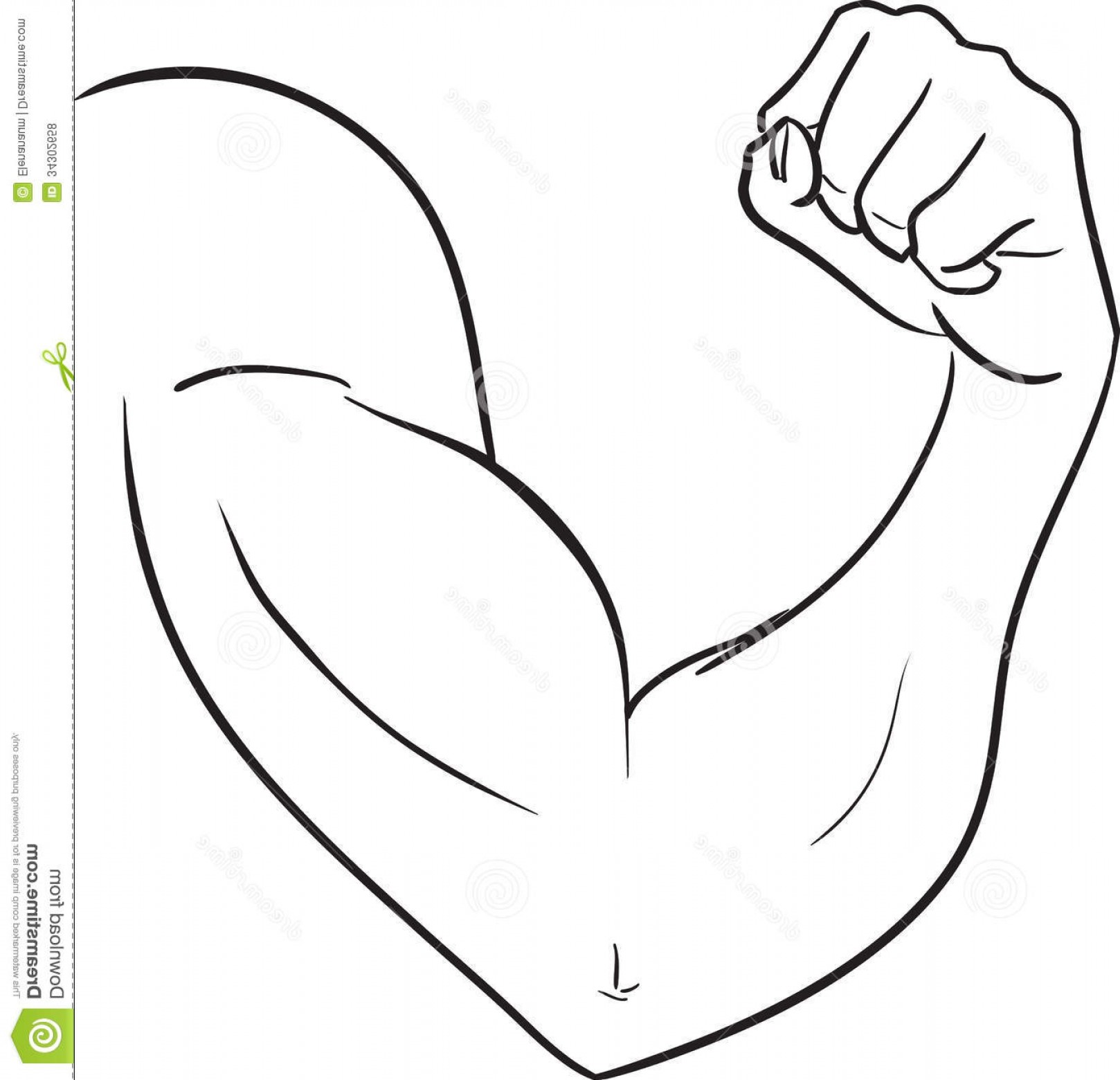 Black And White Clipart Arm.