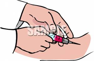 A Doctor Injecting Medicine Into a Patient\'s Arm.
