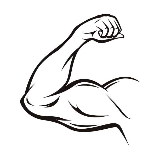 Best Flexing Muscles Illustrations, Royalty.