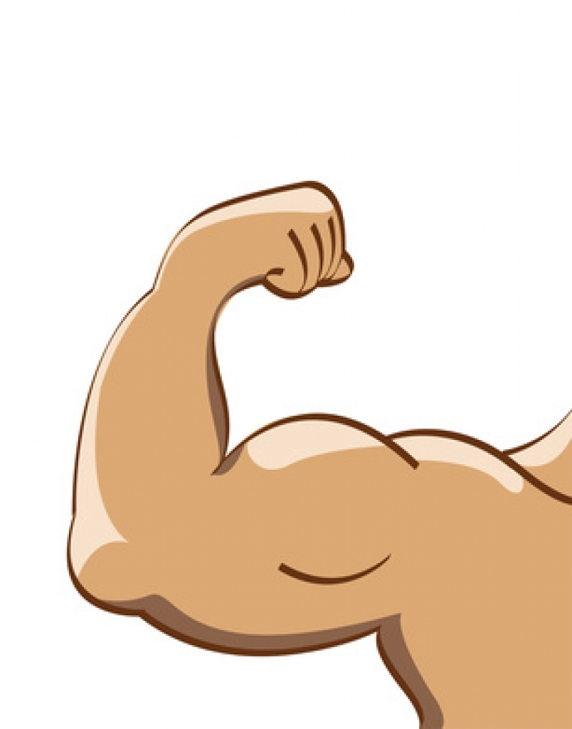 Muscle arm clip art.
