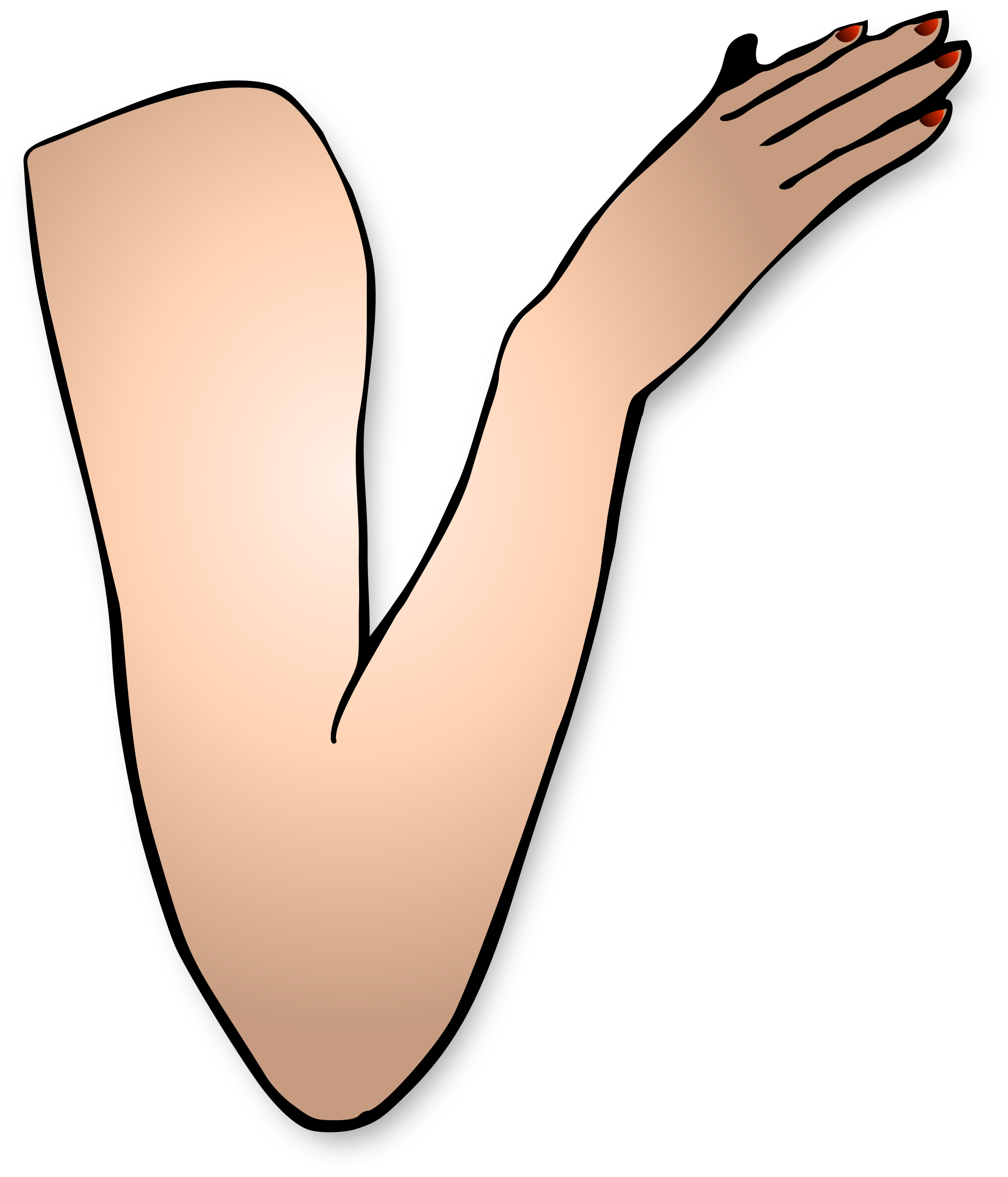 Right Arm Clipart.