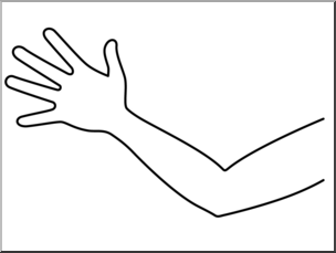 Clip Art: Parts of the Body: Arm B&W Unlabeled I abcteach.