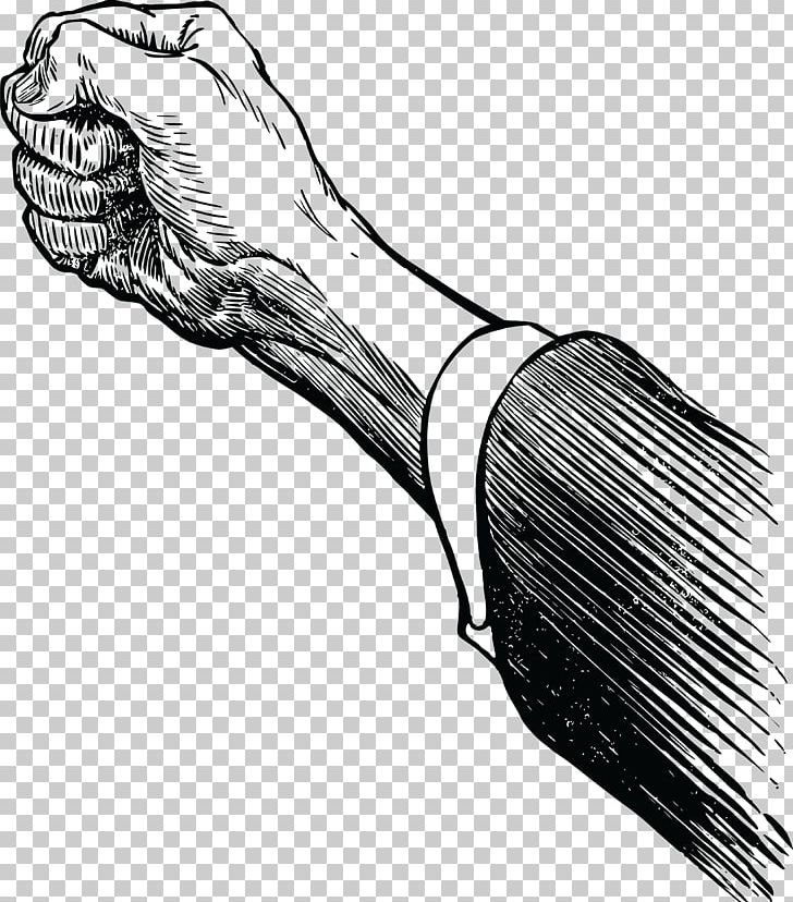 Boxing Punch Raised Fist PNG, Clipart, Arm, Black And White.