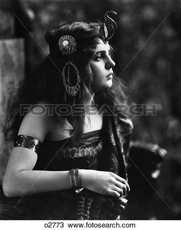 Stock Photo of 1920S Woman In Egyptian.