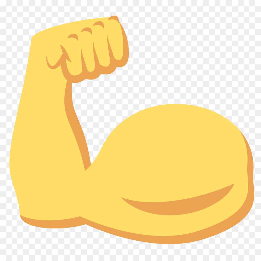 Muscle Arm Emoji clipart.