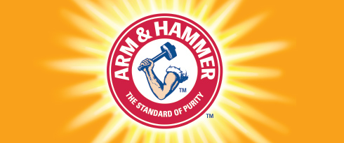 Arm and hammer Logos.
