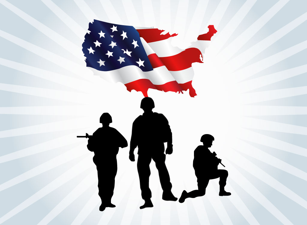 Free Soldier Holding Flag Silhouette, Download Free Clip Art.