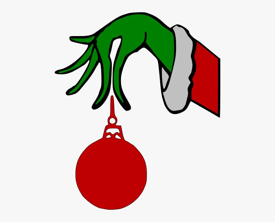 Grinch Arm Holding Ornament Svg , Free Transparent Clipart.