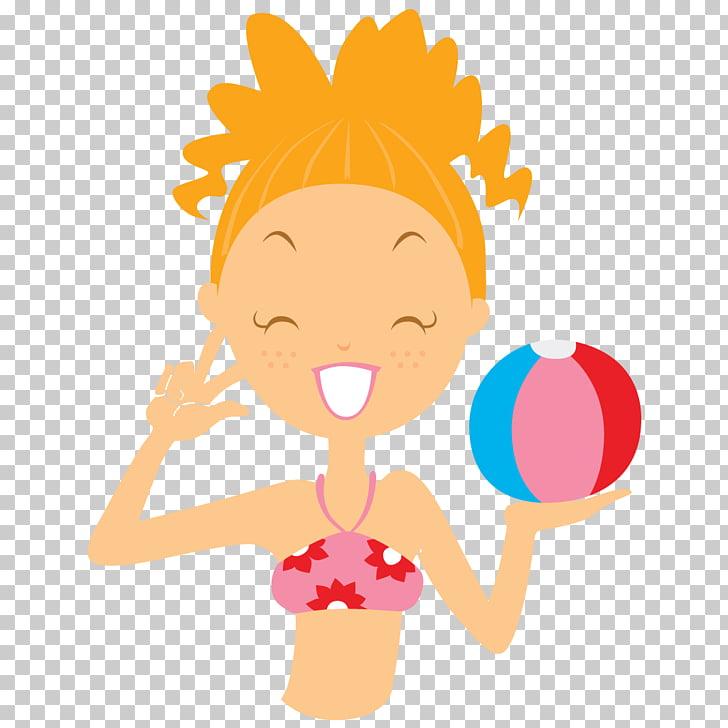 Art girl arm happiness, Beach girl ball, girl holding beach.