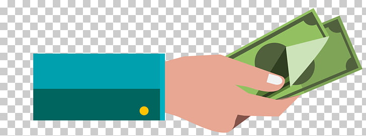 Cartoon, Pay arm, person holding banknote PNG clipart.