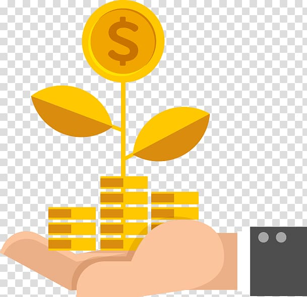 Person holding coins illustration, Investment fund Personal.