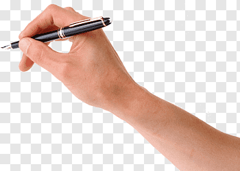 Person holding black pen, Ballpoint pen Handwriting, Pen in.