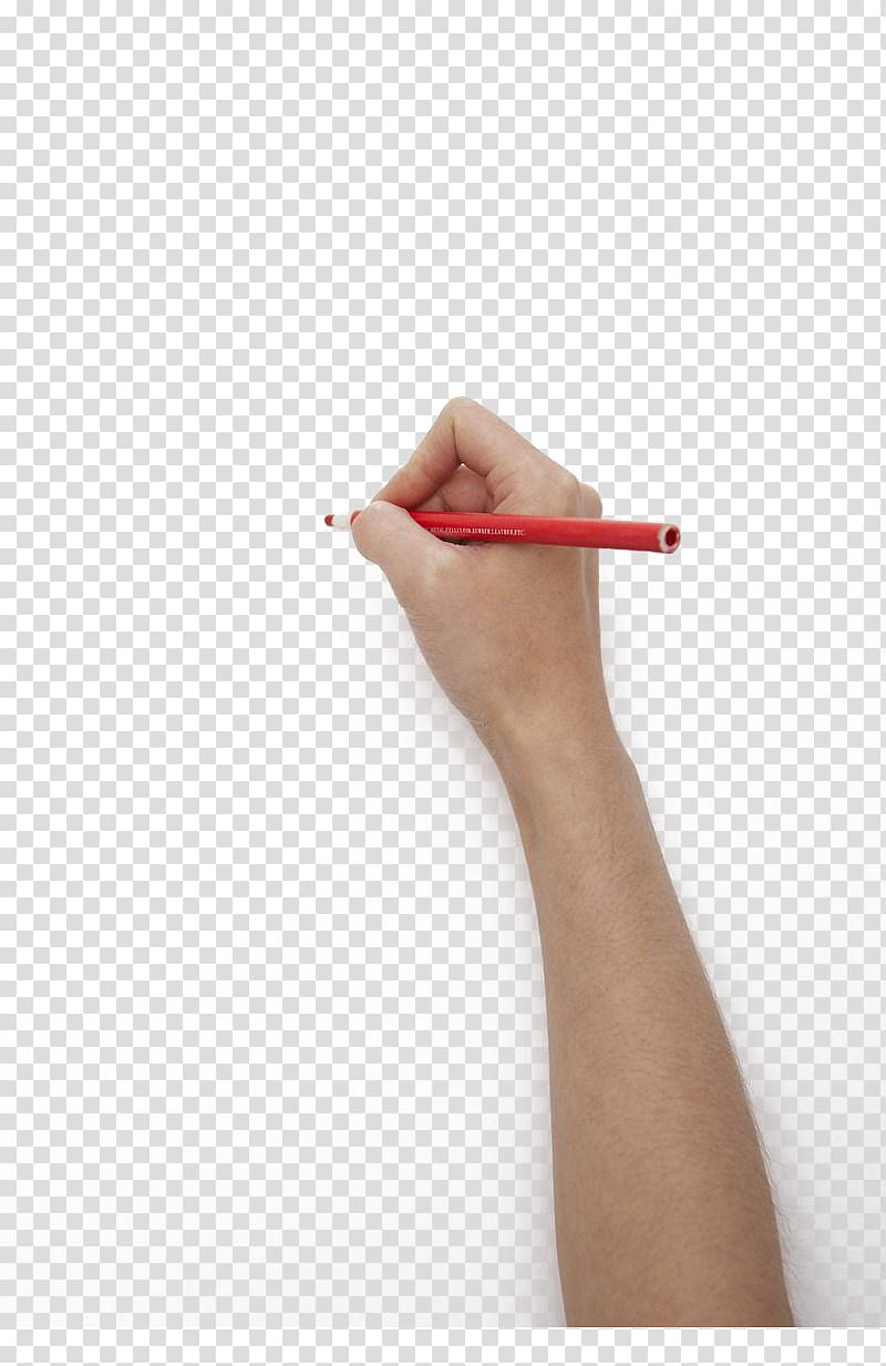 Person holding red pencil, Handwriting Pencil, Holding a red.