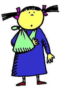 Arm Sling Cartoon Clipart.