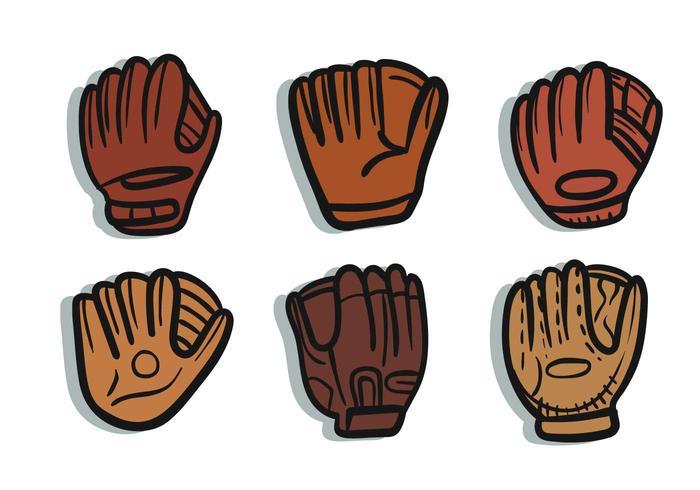 Softball glove vector.